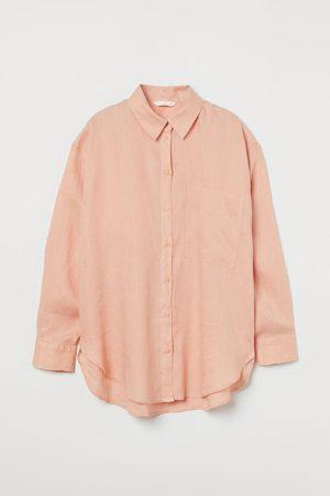 H&M Women Long Sleeve - Linen shirt