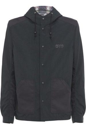 JUNYA WATANABE Nylon Oxford & Cotton Satin Hood Jacket