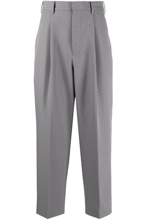 Viktor & Rolf Perforated-detail tailored trousers