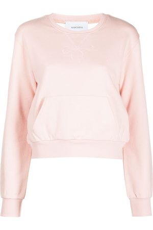 Marchesa Notte Sheer back sweatshirt