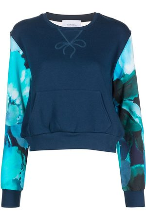 Marchesa Notte Sheer panel sweatshirt