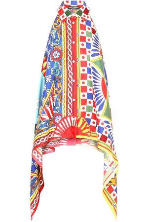 Dolce & Gabbana Women T-shirts - Geometric-print asymmetric shirt