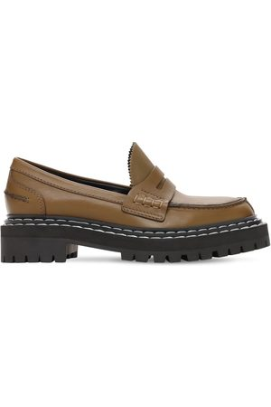 Proenza Schouler 30mm Lug Leather Loafers