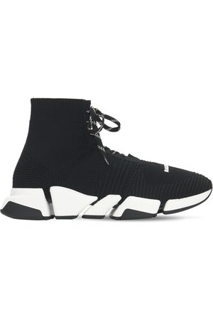 Balenciaga Men Sneakers - Speed 2.0 Knit Lace Up Sneakers