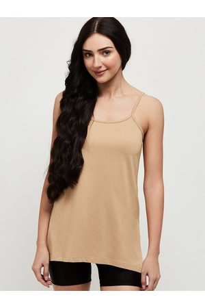Max Collection Women Beige Solid Camisoles