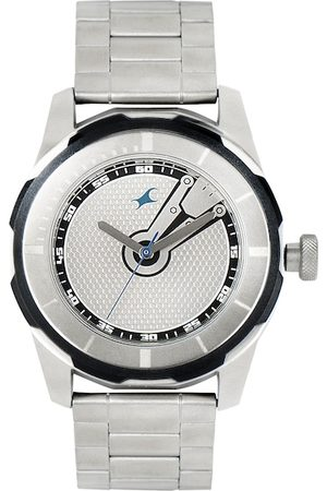 Fastrack Men Silver-Toned Dial Watch 3099SM01