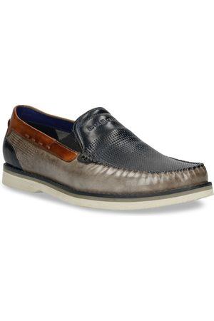 Bugatti Men Grey Slip-on Loafers