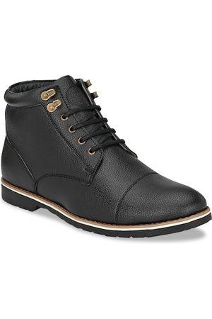 Roadster Men Black Mid-Top Flat Boots