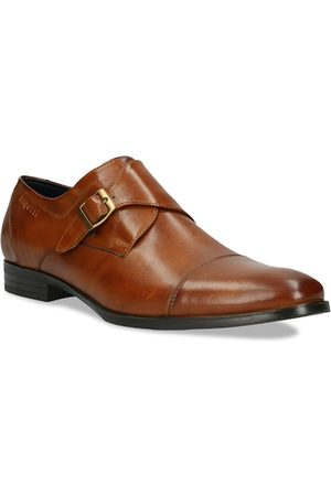 Bugatti Men Brown Solid Leather Formal Monk Shoes
