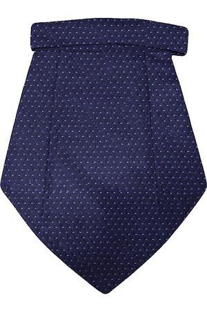Blacksmith Men Blue Woven Design Tie