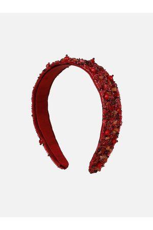 Anekaant Maroon Embellished Hairband