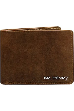 DR. HENRY Men Tan Textured Two Fold Wallet