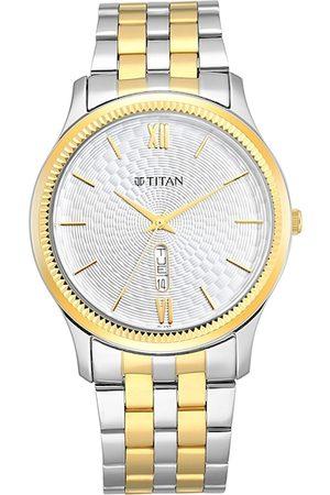 Titan Men Watches - Men Silver-Toned Analogue Watch 1824BM02