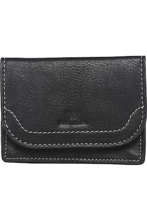 Aditi Wasan Men Black Textured Leather Card Holder