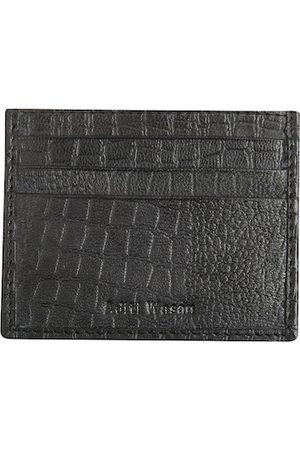 Aditi Wasan Men Wallets - Men Black Textured Leather Card Holder