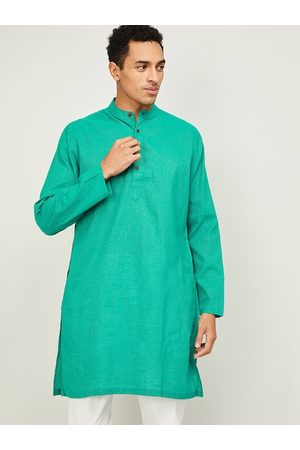 Lifestyle Men Green Kurta