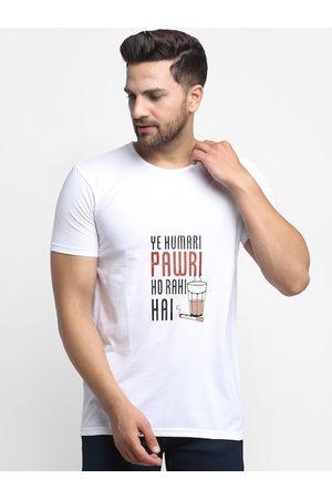VIMAL JONNEY Men White Ye Humari Pawri Ho Rahi Hai Printed Round Neck T-shirt