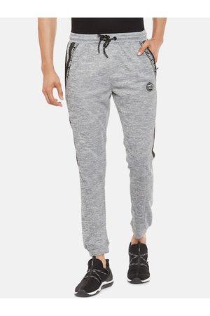 Pantaloons Men Grey-Melange Solid Slim Fit Joggers