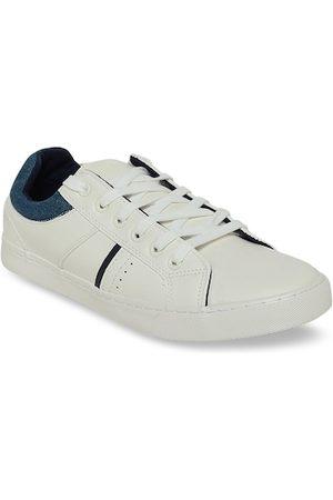 Pantaloons Men Sneakers - Men White Solid Sneakers