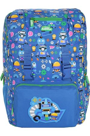 Smily Kiddos Unisex Kids Blue & Pink Graphic Backpack with Hip Strap