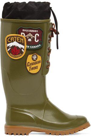 Dsquared2 Men Boots - Rubber Rain Boots W/ Patches