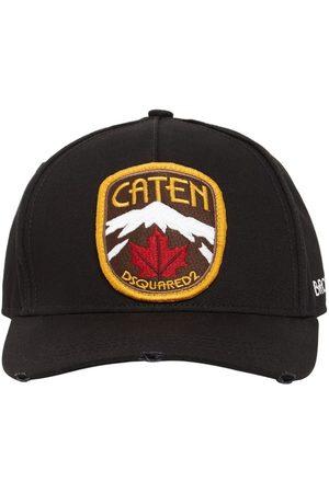 Dsquared2 Men Hats - Patch Cotton Gabardine Cap