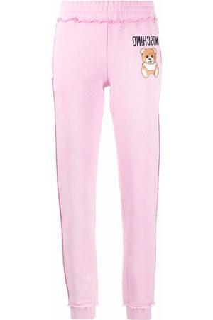 Moschino Women Trousers - Teddy Bear motif track pants