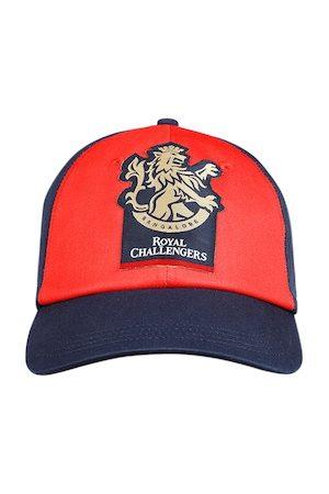 PUMA Men Caps - Men Red & Navy Blue Printed Royal Challengers Baseball Cap