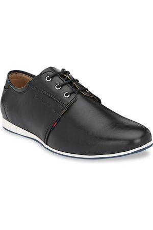 San Frissco Men Formal Shoes - Men Black Solid Derbys