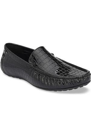 San Frissco Men Loafers - Men Black Textured Loafers