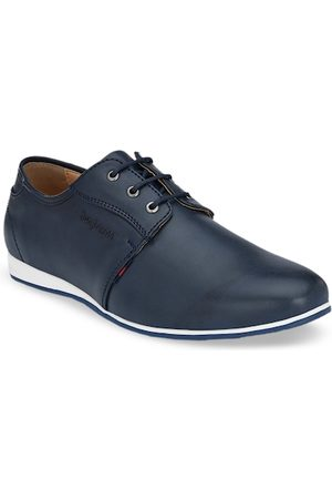 San Frissco Men Formal Shoes - Men Navy Blue Derbys