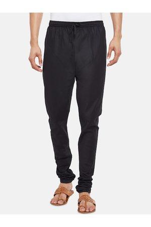 Pantaloons Men Black Solid Churidar