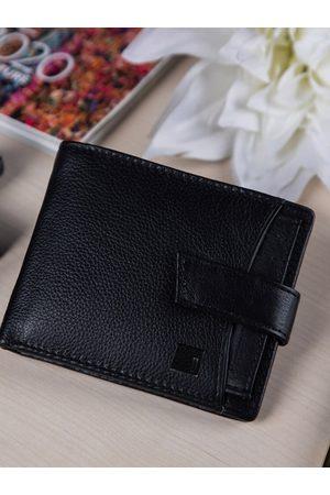 Impulse Men Wallets - Men Black Textured Leather RFID Two Fold Wallet