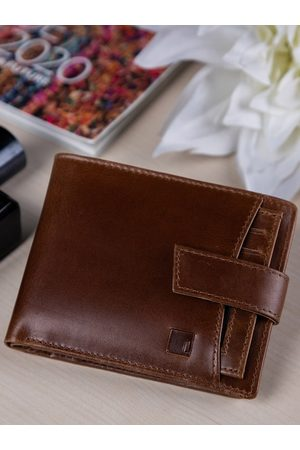Impulse Men Brown Solid RFID Secured Leather Two Fold Wallet
