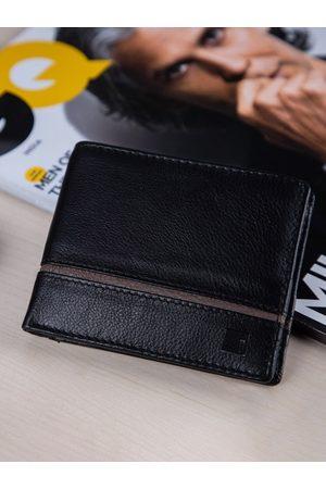 Impulse Men Black Solid Three Fold Wallet