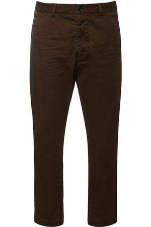 Dsquared2 Men Stretch Trousers - Hockney Stretch Cotton Twill Pants