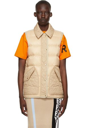 Burberry Beige Down Quilted Vest