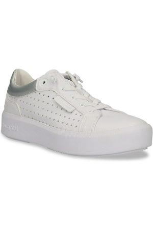 Bugatti Women White & Silver-Toned Casual Sneakers