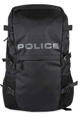 Police Men Black Solid Backpack