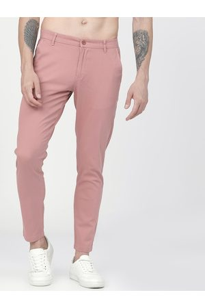 Highlander Men Pink Slim Fit Solid Chinos
