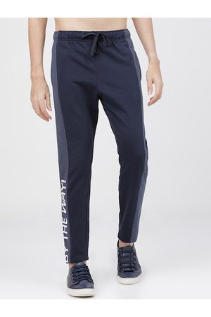 Highlander Men Navy Blue Solid Slim-Fit Track Pants