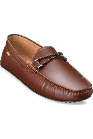 Duke Men Tan Brown Synthetic Textured Loafers Casual Shoes