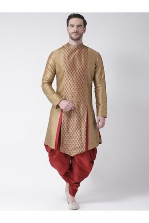 DEYANN Men Brown Kurta and Patiala Set