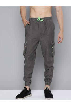 Kook N Keech Men Charcoal Grey Regular Fit Solid Joggers