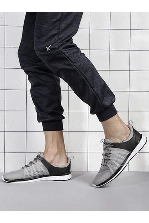 HRX Men Grey & Black Trainer-1 Training Shoes
