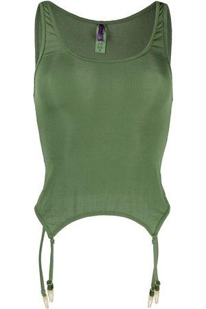 MAISON CLOSE Sleeveless ribbed-knit camisole