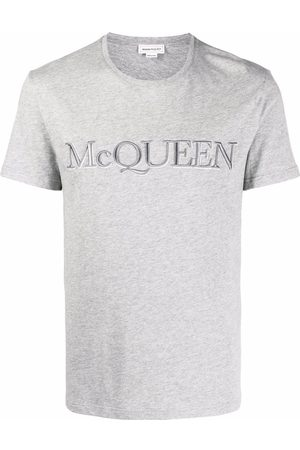 Alexander McQueen Men Short Sleeve - Embroidered logo cotton T-shirt
