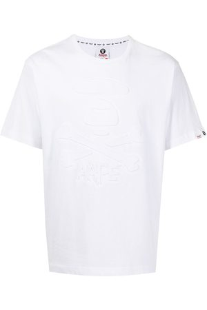 AAPE BY A BATHING APE Logo-debossed cotton T-shirt
