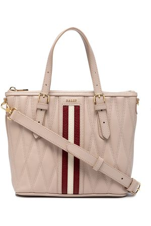 Bally Women Handbags - Diamond-quilted leather tote bag