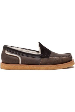 Dolce & Gabbana Men Loafers - Shearling-lined loafers
